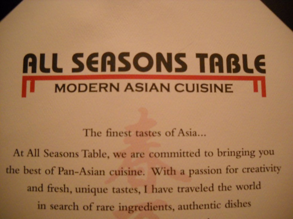 Review: All Seasons Table