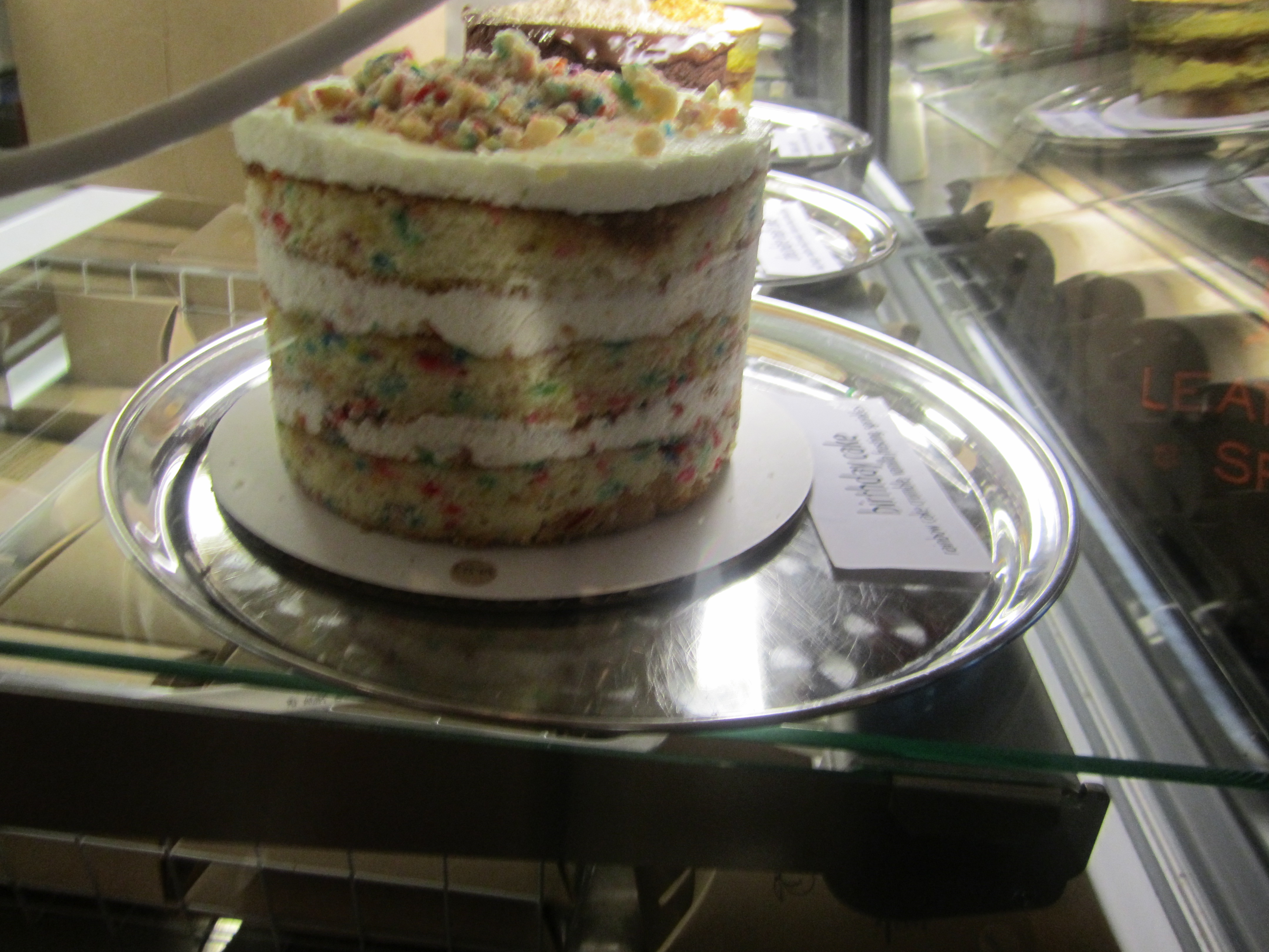 Birthday Cake An Upscale Version Of The Boxed Funfetti Or Rainbow Chip With Crumble Sprinkles And Vanilla Frosting