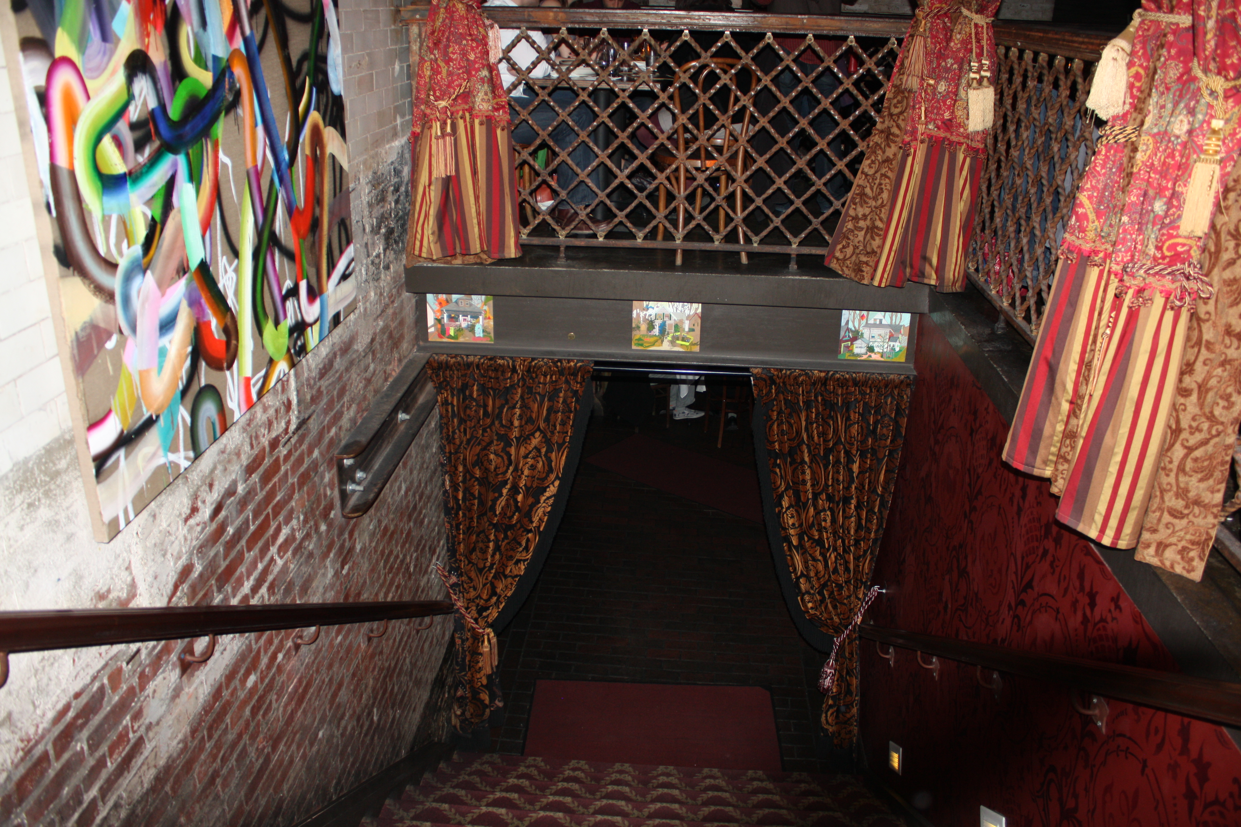 The Beehive oozes cool with the red and gold curtains, funky art and its  cavernous space.