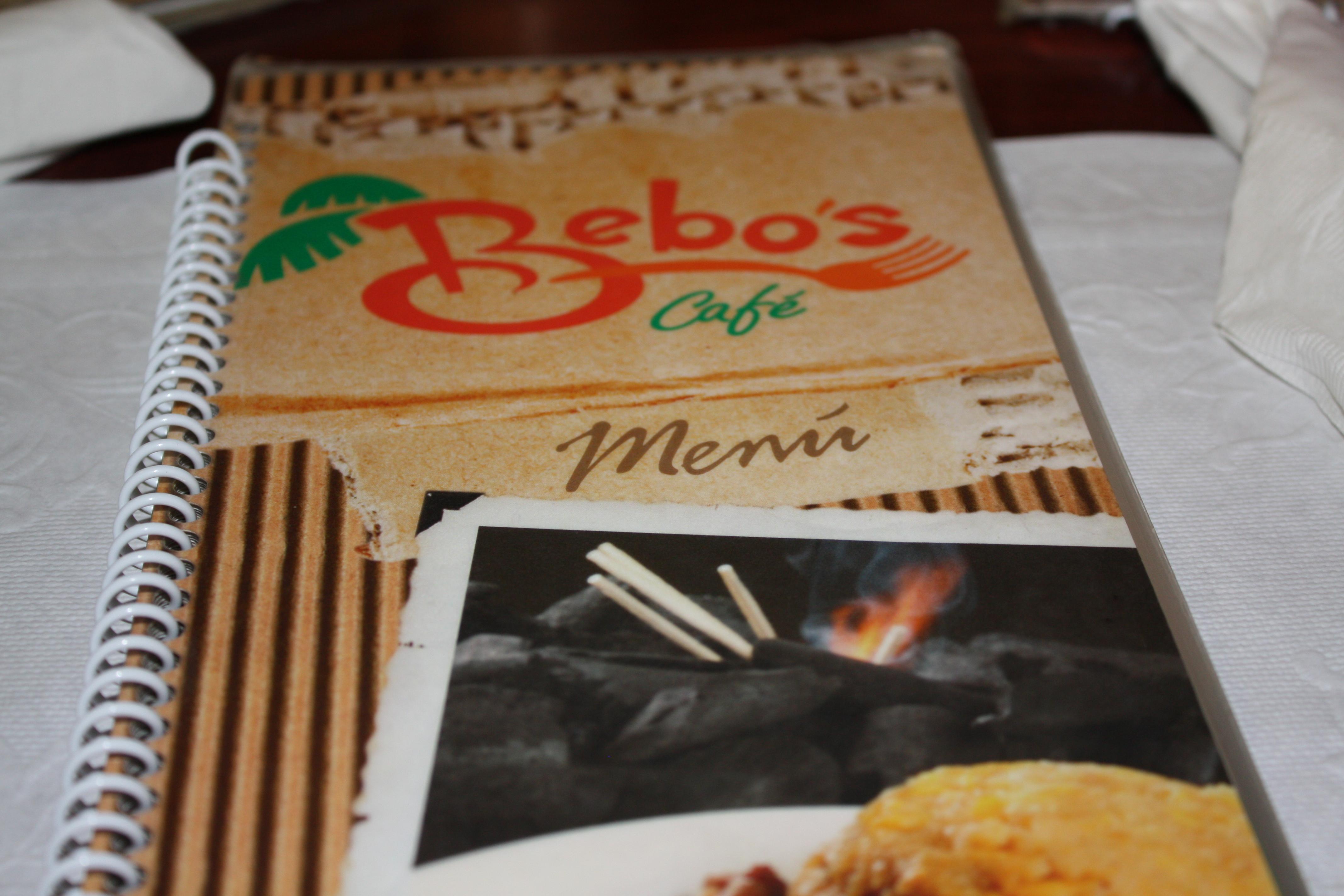 Bebos Restaurant Menu