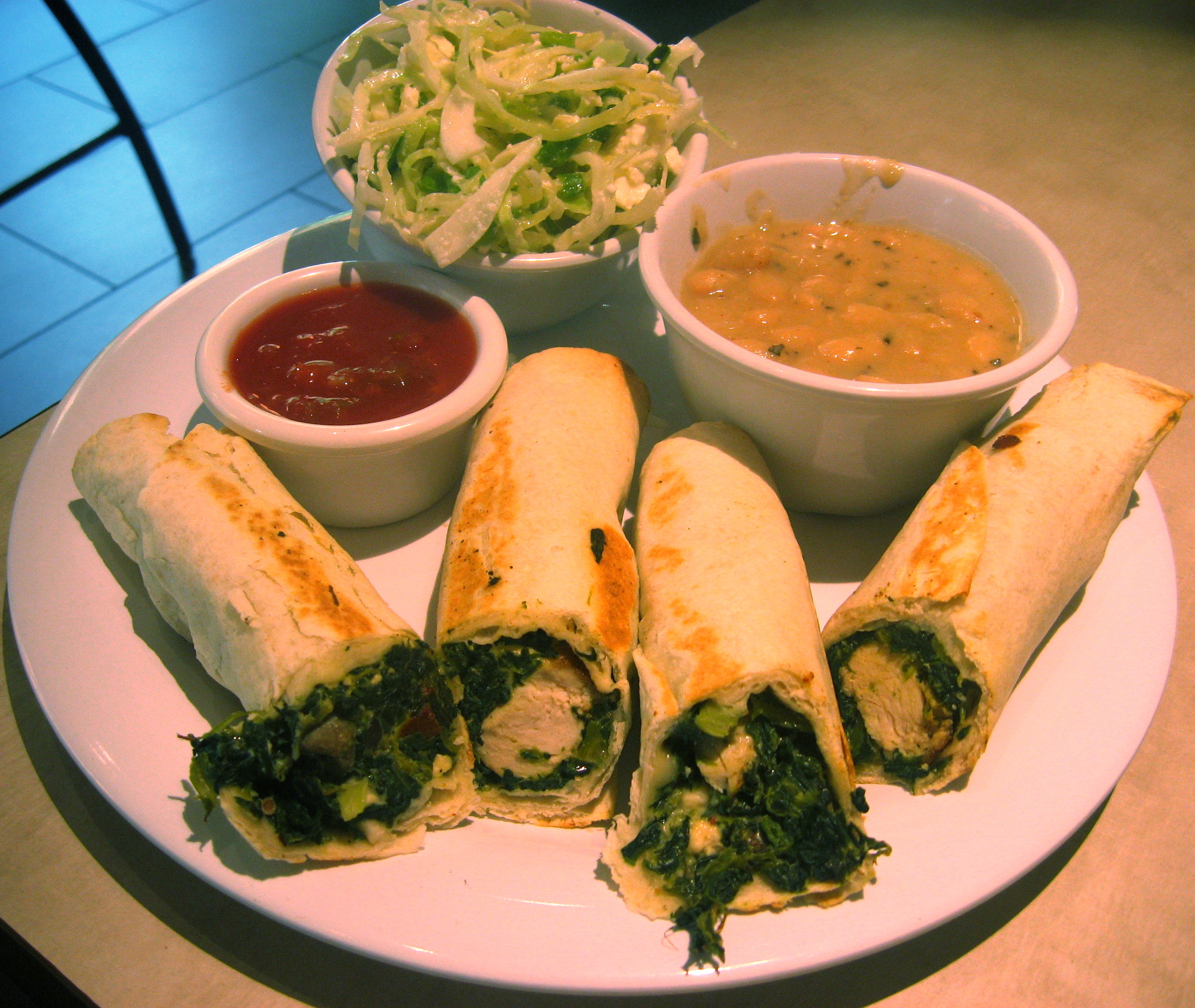 zoes kitchen spinach roll ups restaurant talk zoe's kitchen