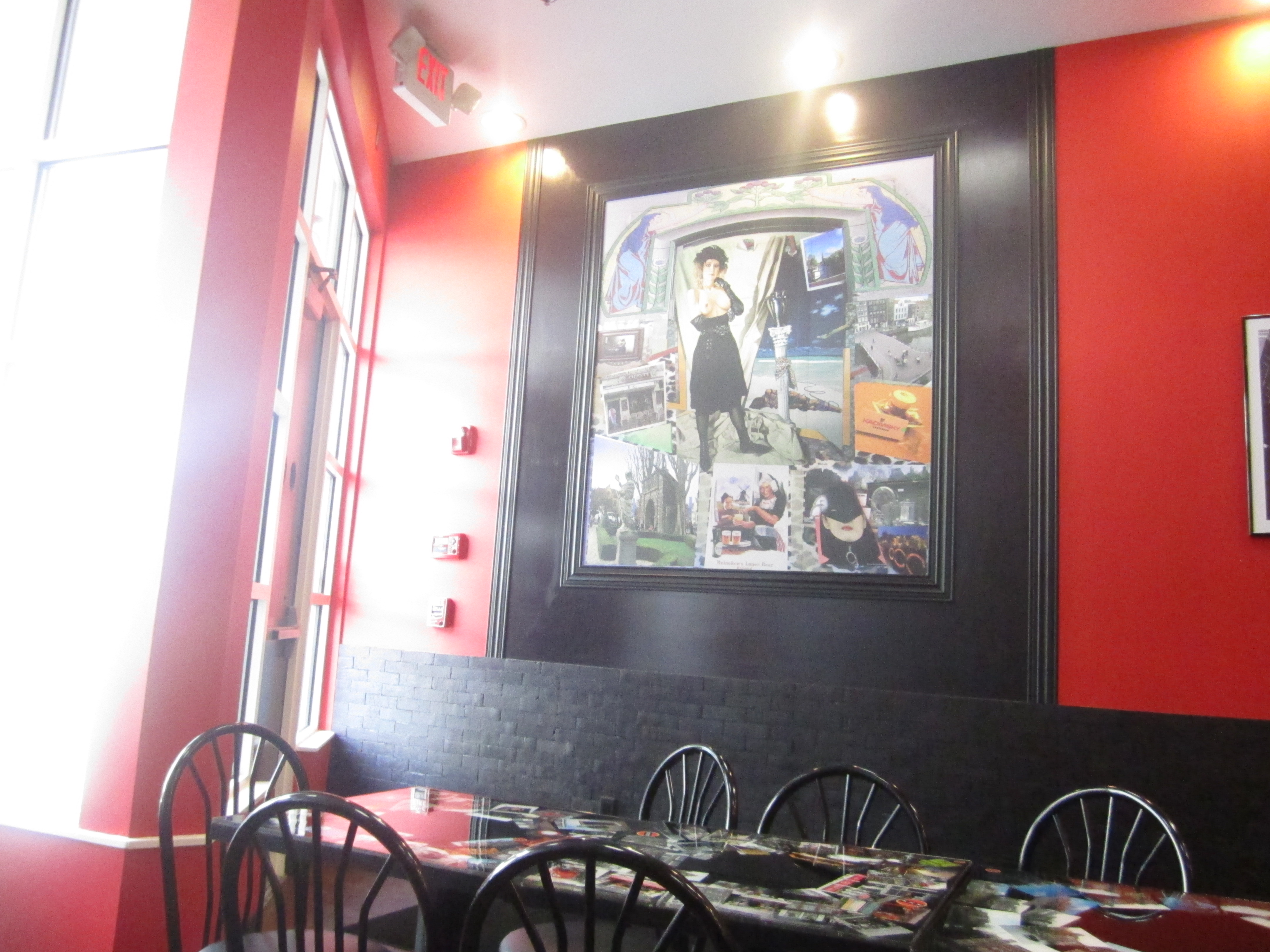 Blue apron falafel - Upon Entrance There Is Some Fairly Provocative Art Work The Tables Have Fun Photographs Of Falafel Shops In Other Countries