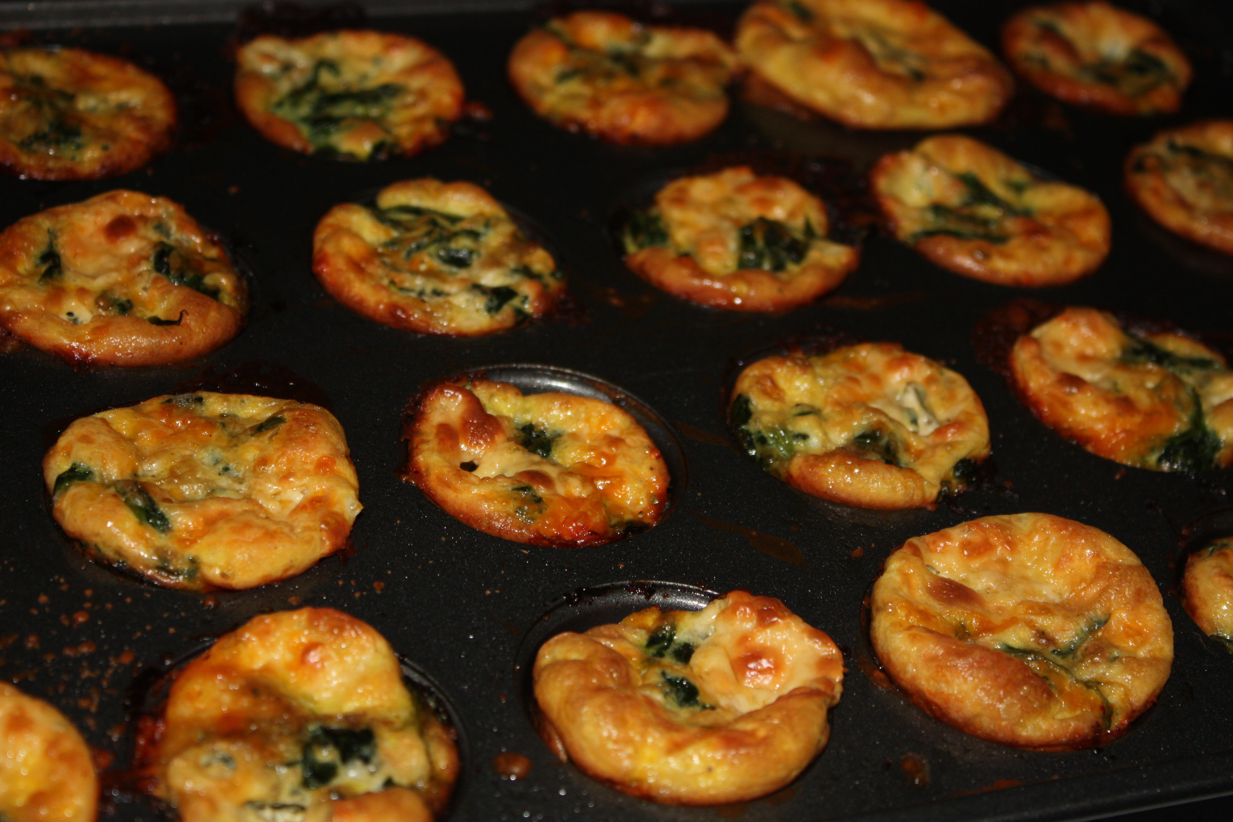 Spinach and Cheese Mini Crustless Quiches